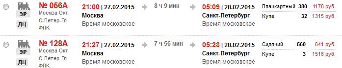 РЖД. 5-дневная акция - скидка 45% на билеты в купе. МСК - СПБ: 1300 руб.