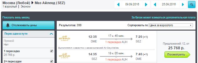 Москва - Маэ (Сейшелы) - Москва
