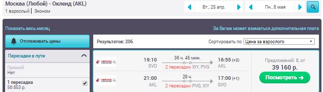 Москва - Окленд - Москва