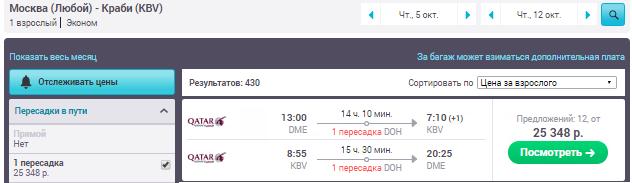 Москва - Краби - Москва