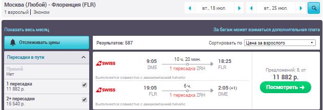 Москва - Флоренция - Москва