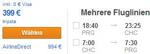 Прага - Крайстчерч (Новая Зеландия) - Прага: 399 €