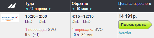 BugetWorld - Трансаэро. Питер - Дели - Питер: 15500 руб.