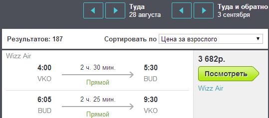BudgetWorld|WizzAir. Москва - Будапешт - Москва: 3700 руб.