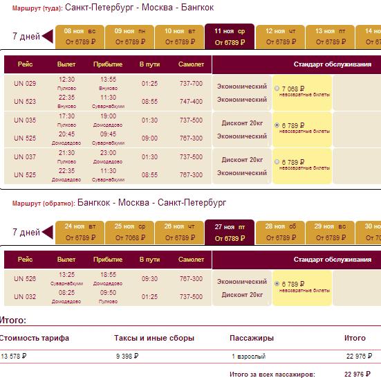 BudgetWorld|Трансаэро. Питер - Бангкок - Питер: 23000 руб.