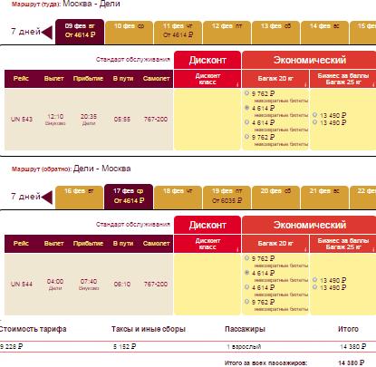 BudgetWorld|Трансаэро. Москва — Дели — Москва: 14400 руб. [Прямые рейсы!]