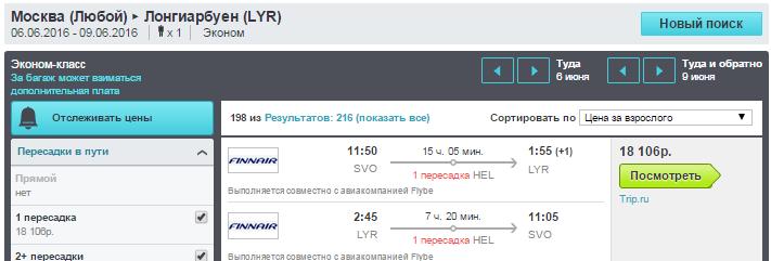 BudgetWorld|FinnAir. Москва / Питер - Лонгйир (Шпицберген) - Москва / Питер: 8000 руб. [на Лето 2016!]