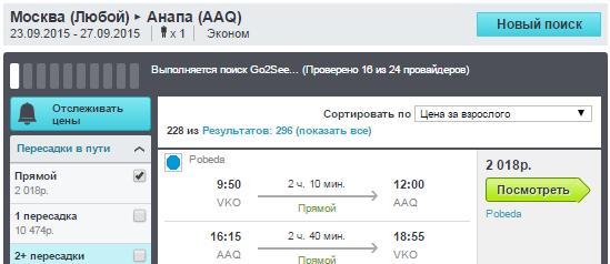 BudgetWorld|Победа. Москва - Анапа - Москва: 2000 руб.