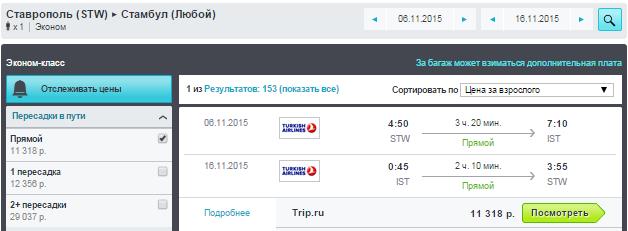BudgetWorld|Turkish Airlines. Ростов / Ставрополь / Уфа / Новосибирск - Стамбул: от 8500 руб. [Прямые рейсы!]