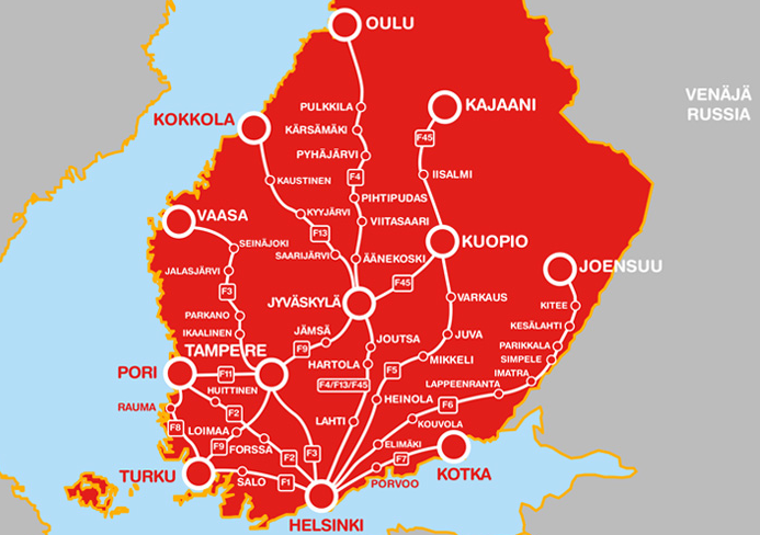 BudgetWorld|Onnibus - карта маршрутов