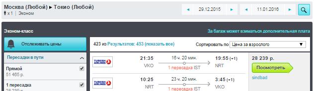 BudgetWorld|Turkish Airlines. Москва - Токио - Москва: 28200 руб. [на Новый Год!]