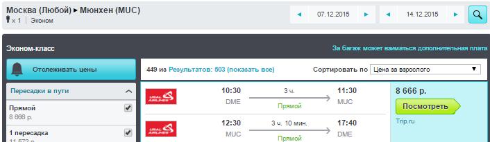 BudgetWorld|Уральские авиалинии. Москва - Мюнхен - Москва: 8600 руб. [Прямые рейсы - Горнолыжный сезон!] *Подешевело