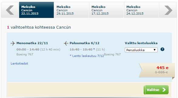 BudgetWorld|Finnmatkat. Чартер. Хельсинки - Канкун (Мексика) - Хельсинки: 31200 руб. [Прямые рейсы!]