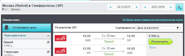 BudgetWorld|Уральские авиалинии. Москва - Симферополь (Крым) - Москва: 6000 руб.