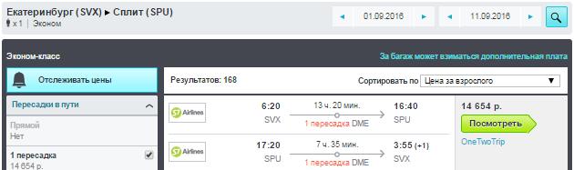 S7. Сплит (Хорватия) из Москвы и Регионов РФ: от 13000 руб.