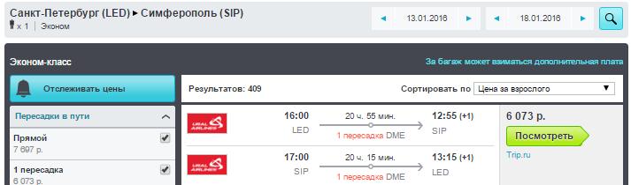 Ural Airlines. Москва / Питер - Симферополь (Крым)