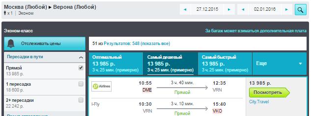 Москва - Верона На Новый Год