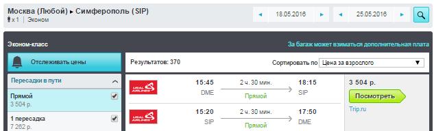 Ural Airlines. Москва ⇄ Челябинск / Крым / Сочи / Ростов / Екатеринбург / Омск