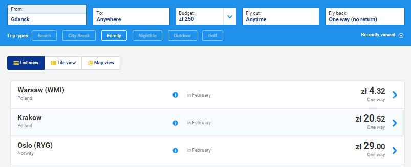 Ryanair. Распродажа. Авиабилеты от 1€