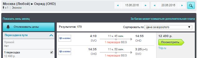 Москва - Охрид - Москва