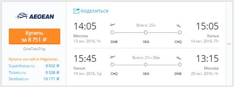 Москва - Крит - Москва