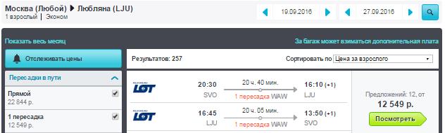 Москва - Любляна - Москва