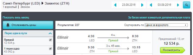Питер - Закинтос - Москва