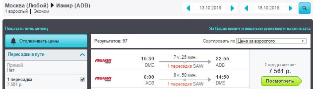 Москва - Изимир - Москва