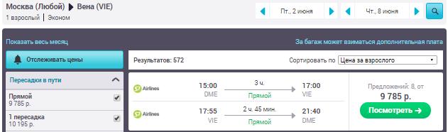 Москва - Вена - Москва