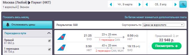Москва - Пхукет - Москва