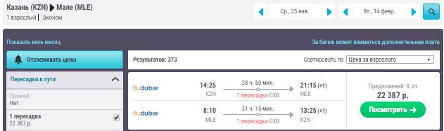 Казань - Мале - Казань