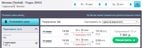 Москва - Родос - Москва