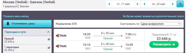 Москва - Бангкок - Москва [Thai Airways]