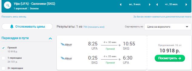 Уфа - Салоники - Уфа