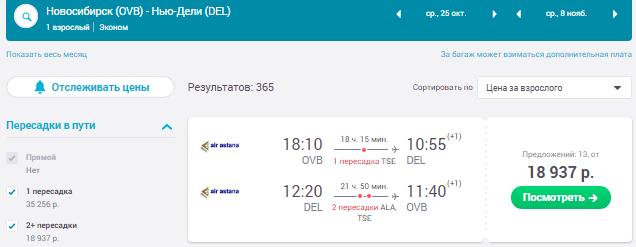 Новосибирск - Дели - Новосибирск