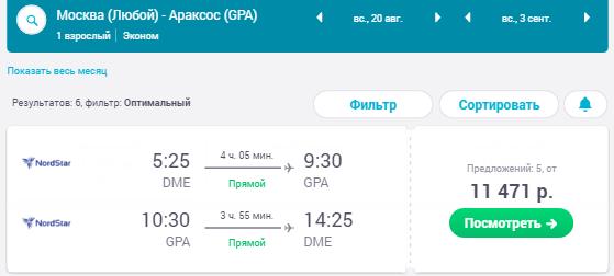 Москва - Араксос - Москва