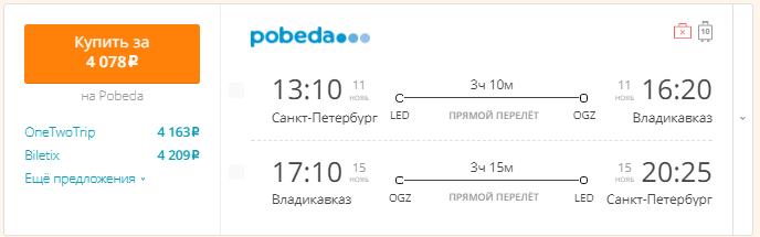 Питер - Владикавказ - Питер