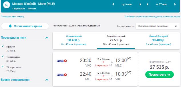 Москва - Мальдивы - Москва