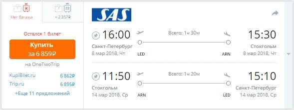 Питер - Стокгольм - Питер