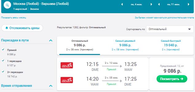 Москва - Варшава - Москва