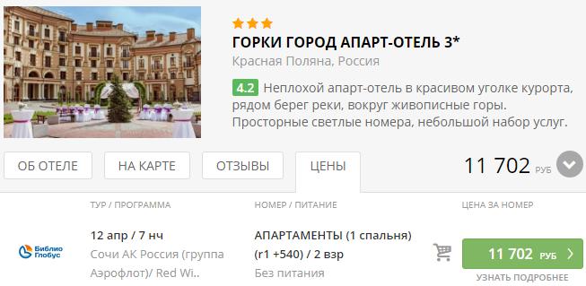 из Москвы в Сочи [12-19 апреля]