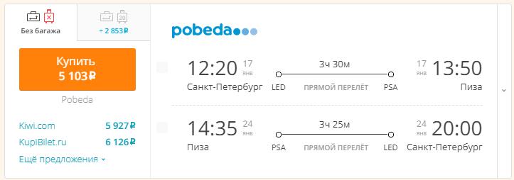 Питер - Пиза - Питер